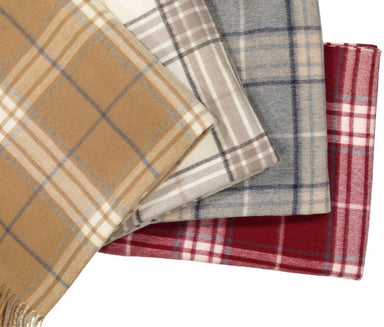 Rocky Mountain Plaid Throw Shown in 4 Colors - Alashan Cashmere