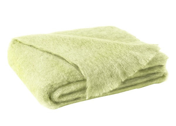 Brushed Mohair Throw Honeydew by Lands Downunder