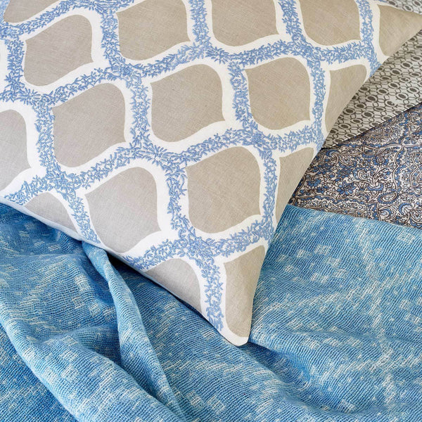 john robshaw padosa decorative pillow at fig linens - shown with throw