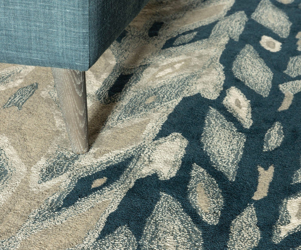 Rug Detail - Kalata Indigo Blues Rug by William Yeoward | Fig LInens