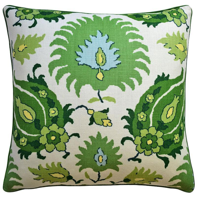 Kashmiri Leaf and Aloe Throw Pillow | Ryan Studio at Fig Linens