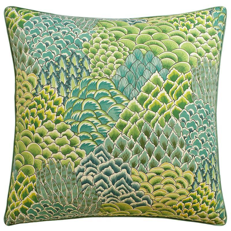 Katibi Leaf Green Throw Pillow | Ryan Studio at Fig Linens