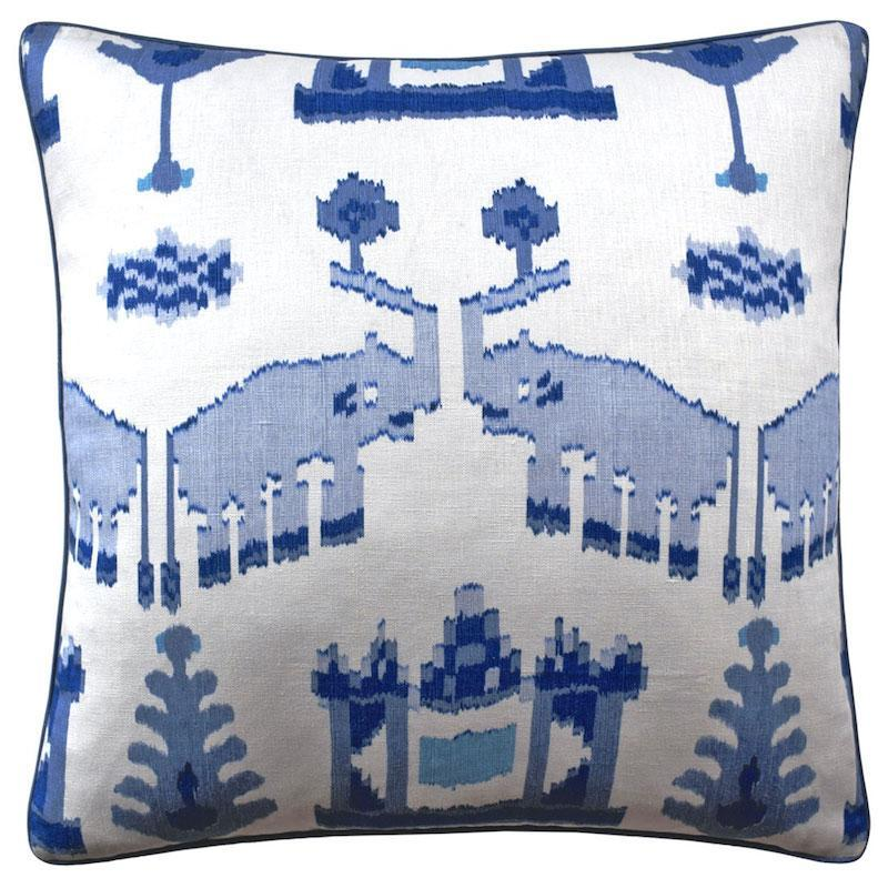 Kingdom Parade Blue and White Throw Pillow | Ryan Studio at Fig Linens