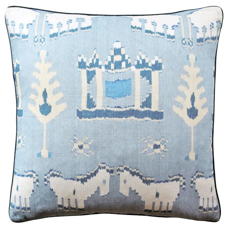 Kingdom Parade Spa Blue Throw Pillow | Ryan Studio at Fig Linens