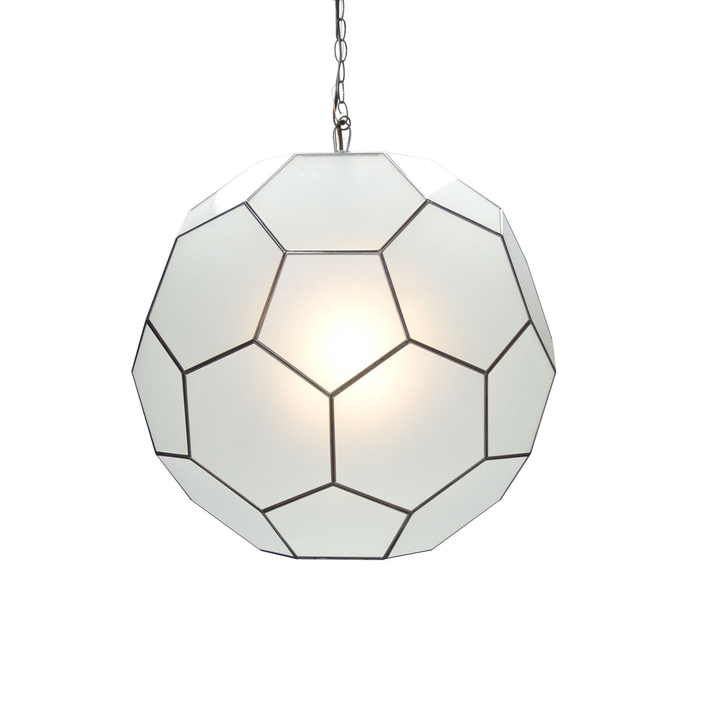 Knox Frosted Glass Pendant by Worlds Away | Fig Linens and Home
