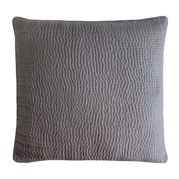 Kevin O'Brien Studio Hammered Silk Euro in Charcoal