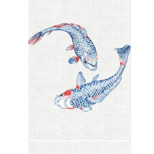 Koi Fish Linen Guest Towels | Fig Linens and Home