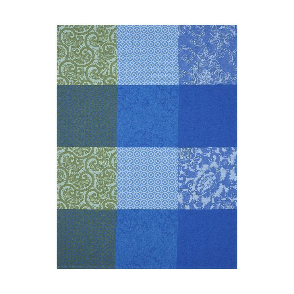 Fleurs de Kyoto Indigo Tea Towel Set of 4 by Le Jacquard Francais