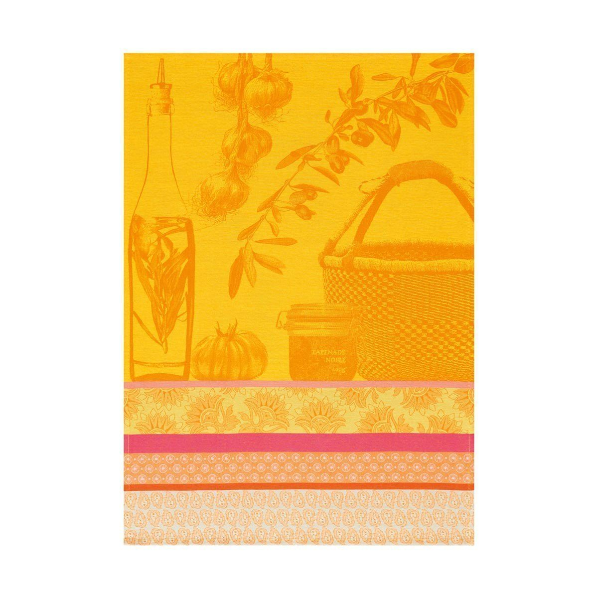 Saveurs de Provence Lemon Tea Towel Set of 4 by Le Jacquard Francais