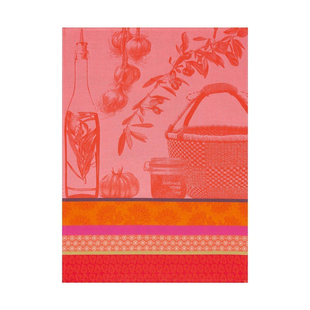 Saveurs de Provence Watermelon Tea Towel Set of 4 by Le Jacquard Francais