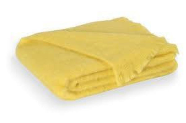 Brushed Mohair Throw Lemon by Lands Downunder