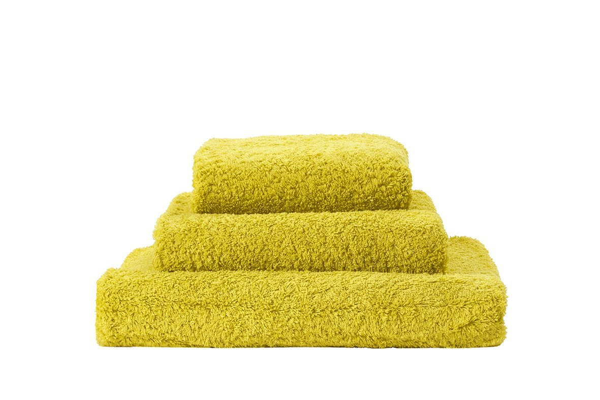 Set of Abyss Super Pile Towels in Lemon Curry 860