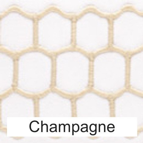 Matouk Champagne - Liana Honeycomb Bed Linens Swatch