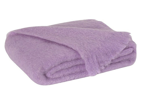 Brushed Mohair Throw Lilac by Lands Downunder