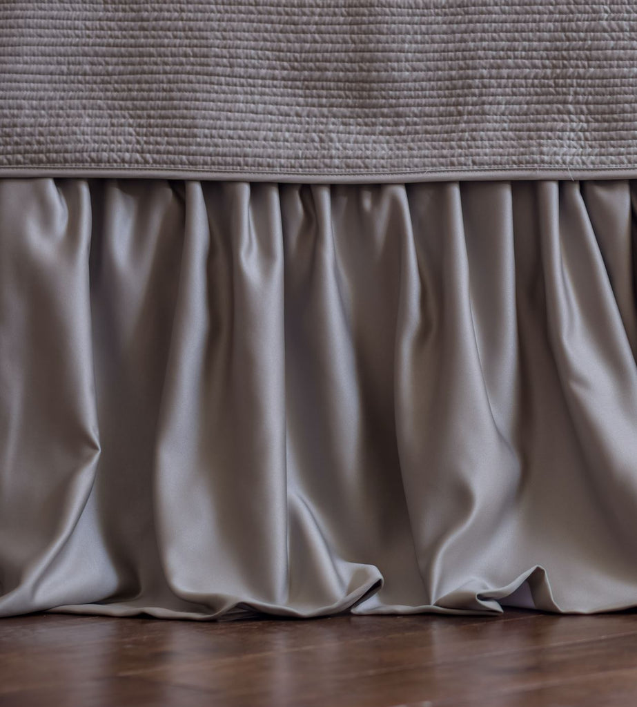 Lili Alessandra Battersea Taupe Bed Skirt