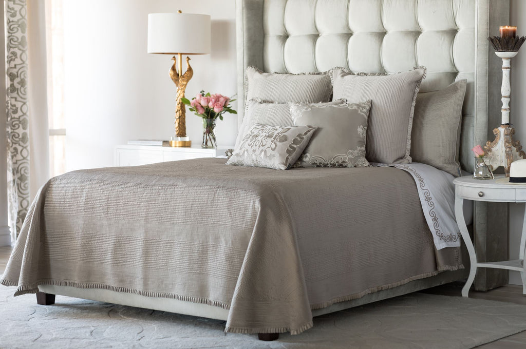 Lili Alessandra Battersea Taupe Bedding
