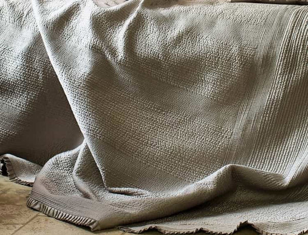 Lili Alessandra Battersea Taupe Quilt Detail