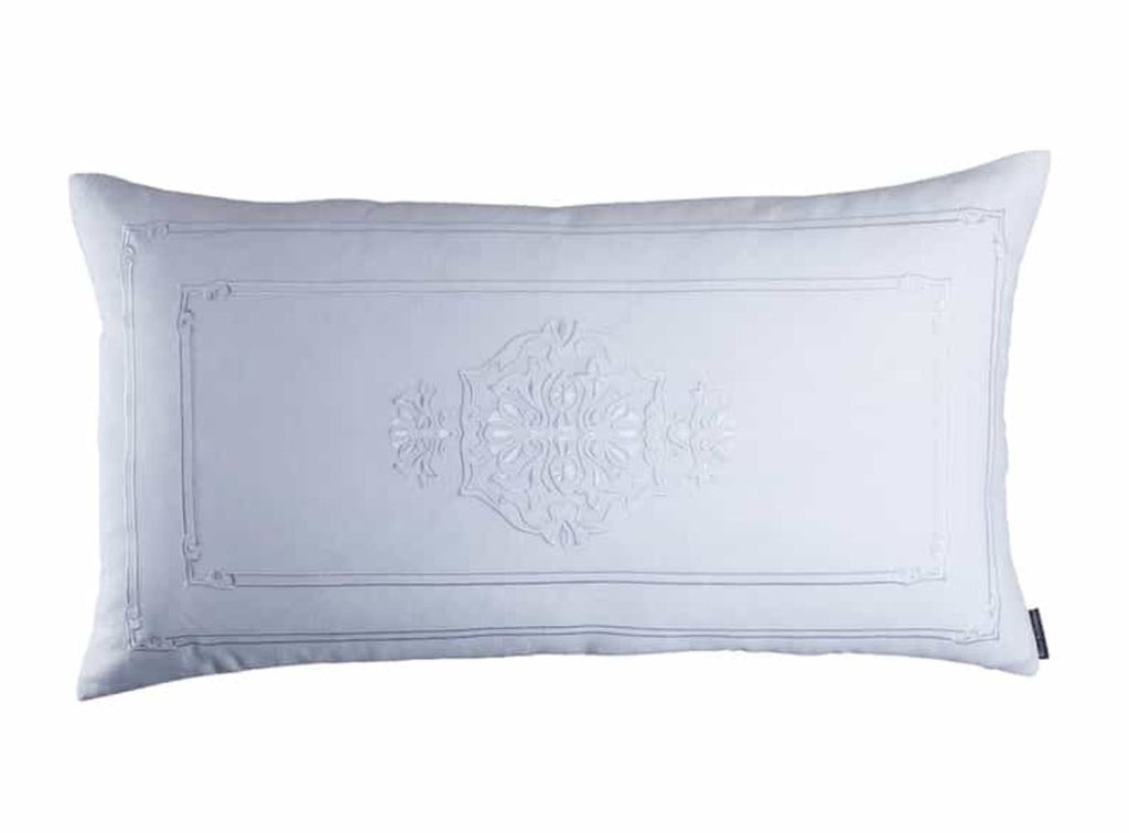 Lili Alessandra Casablanca White Linen King Pillow
