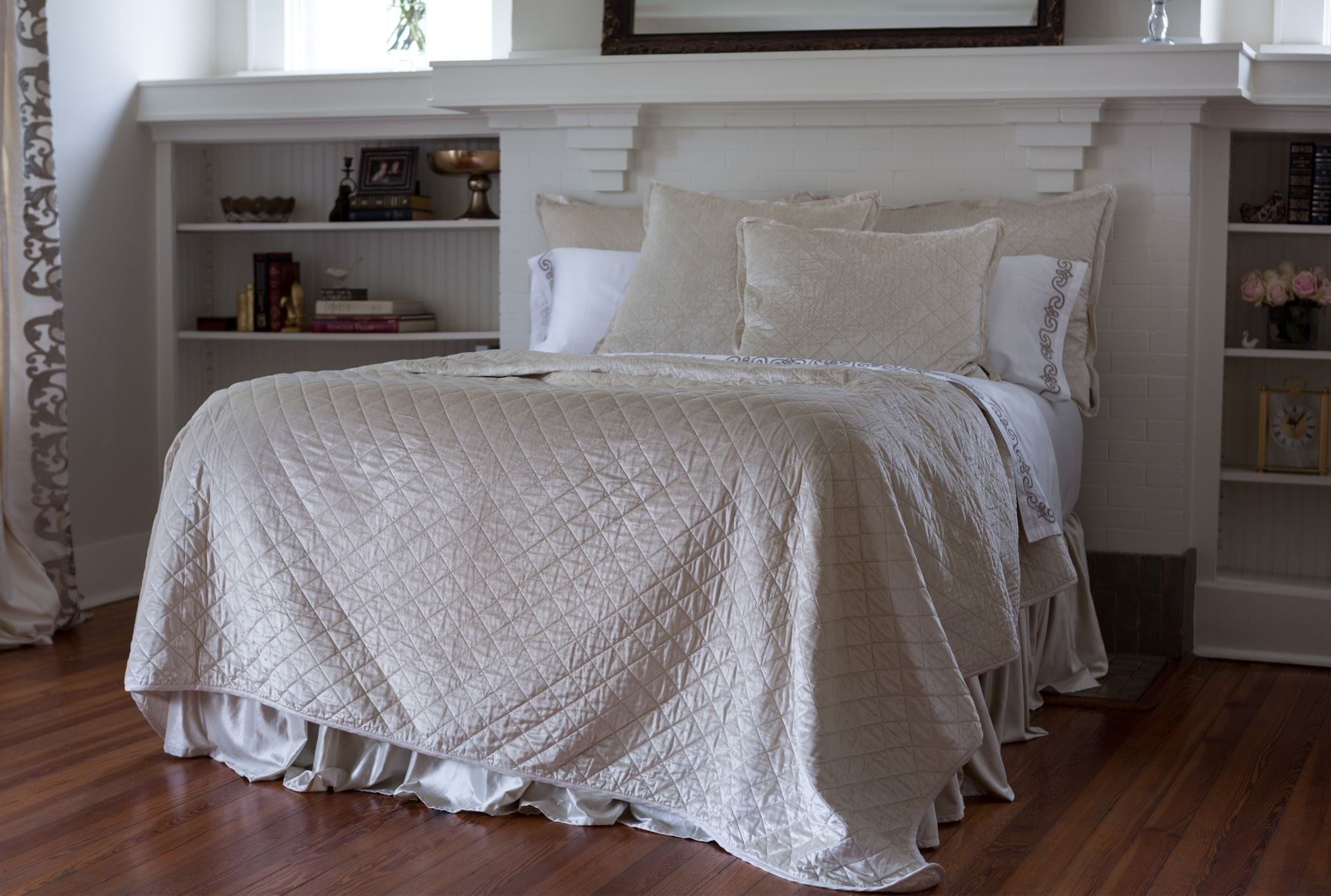Chloe Ivory Velvet by Lili Alessandra - Quilt and Pillows