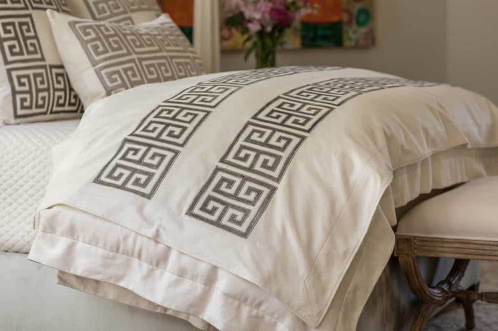 lili alessandra at Fig Linens - Guy Platinum Throw