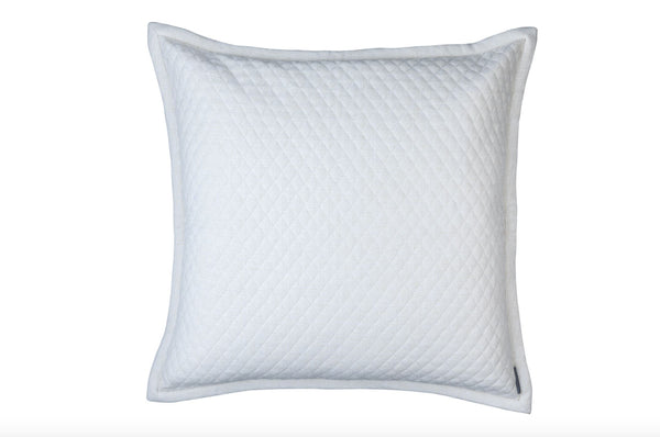Laurie Diamond Quilted European Pillow by Lili Alessandra