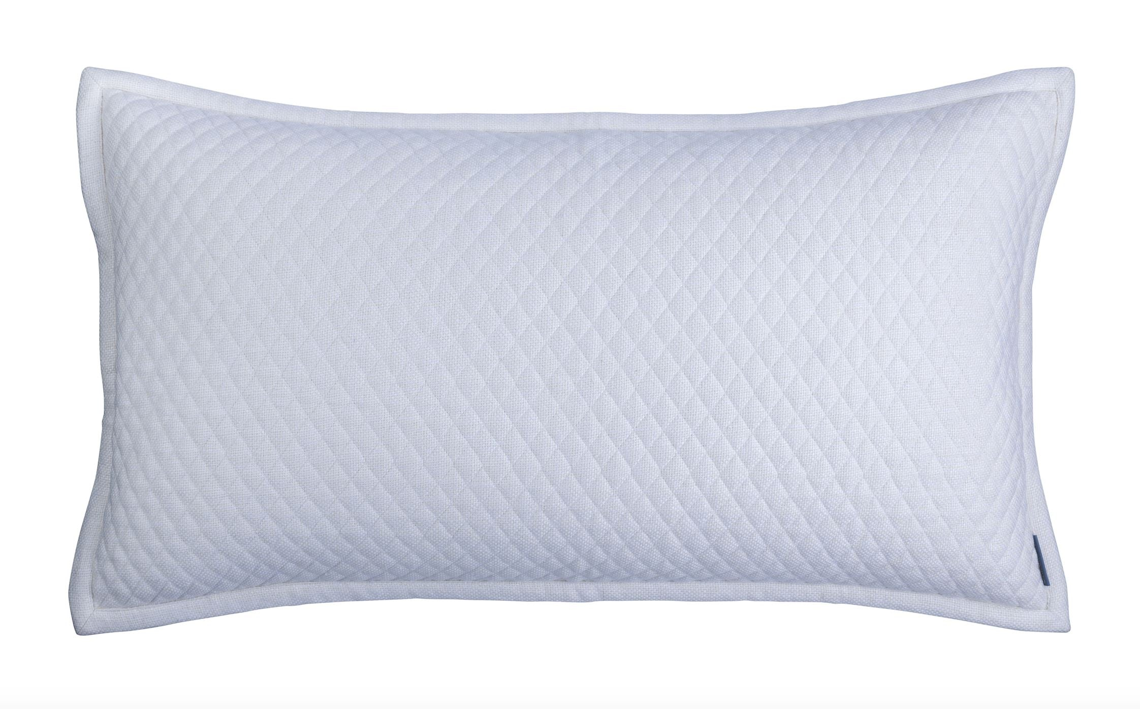Laurie Diamond Quilted King Pillow by Lili Alessandra