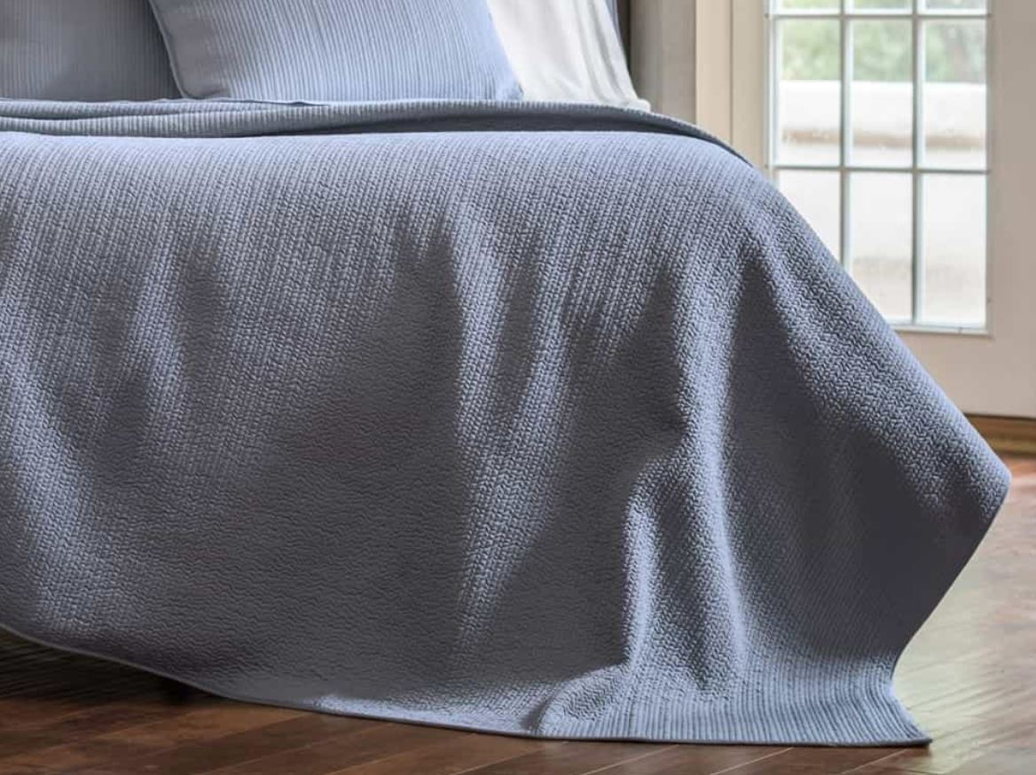 Lili Alessandra Retro Blue Coverlet