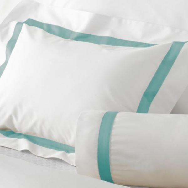 Lowell Aquamarine Bedding by Matouk | Fig Linens and Home