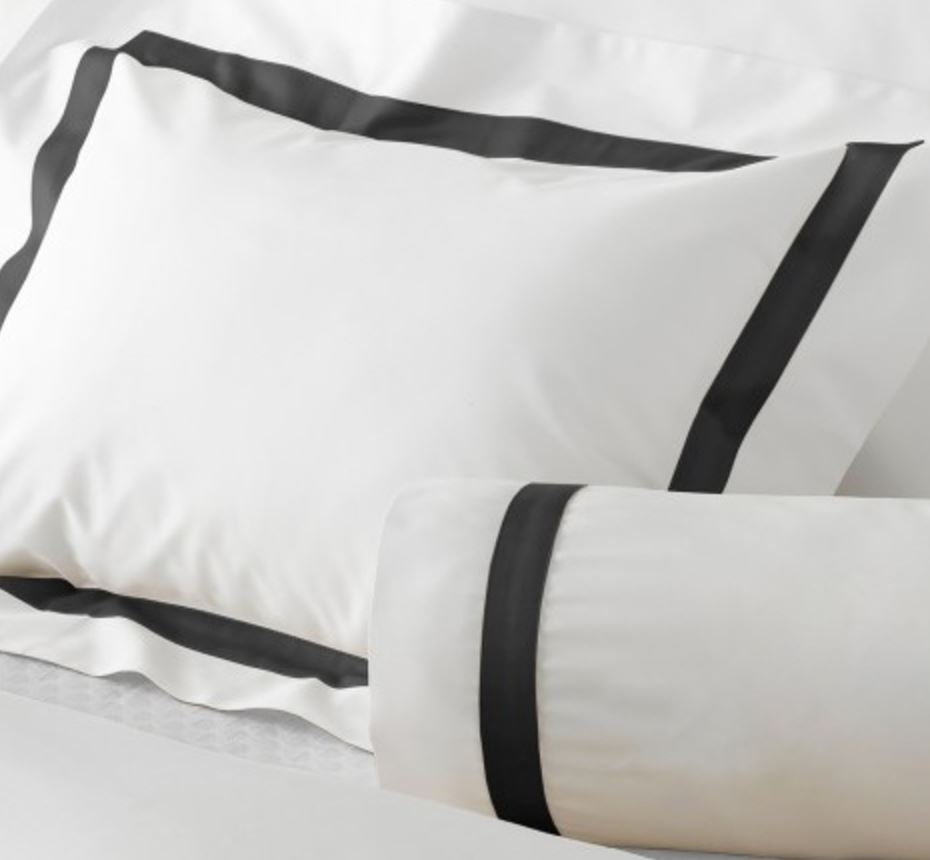 Lowell White with Black Trim - Matouk Bedding