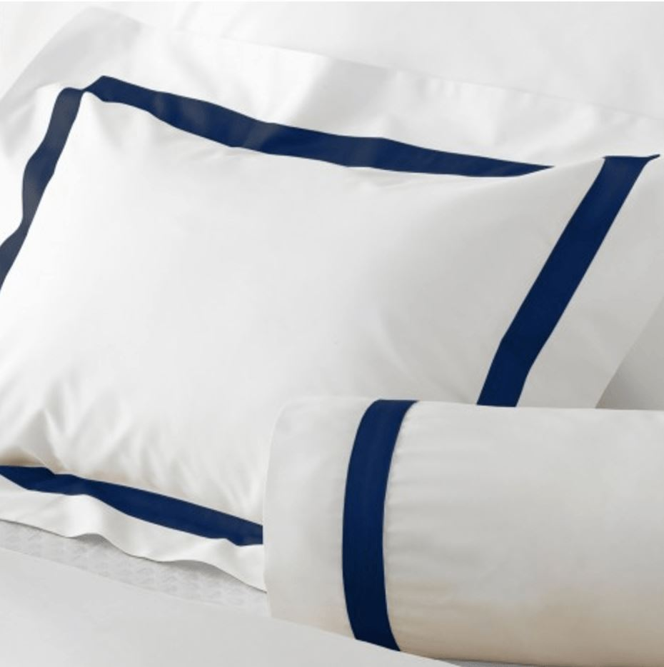 Lowell Navy Bedding by Matouk