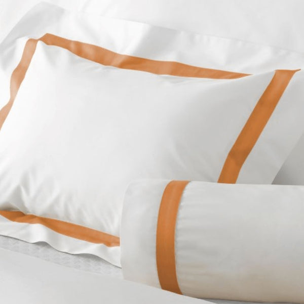 Lowell Tangerine Bedding by Matouk | Fig Linens