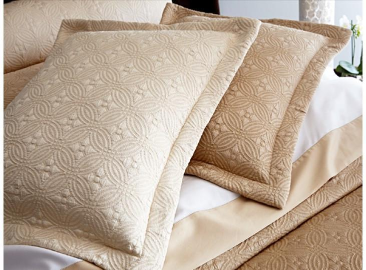 Fig Linens - Lucia Matelassé Coverlet & Shams by Peacock Alley