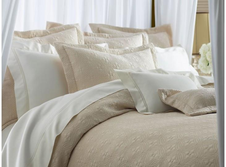 Lucia Matelassé Coverlet & Shams by Peacock Alley | Fig Linens