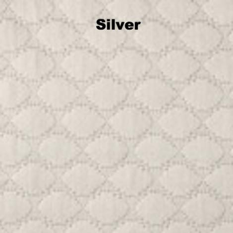 Fig Linens - Pearl Bedding by Matouk - Silver gray coverlet, sham, bedskirt