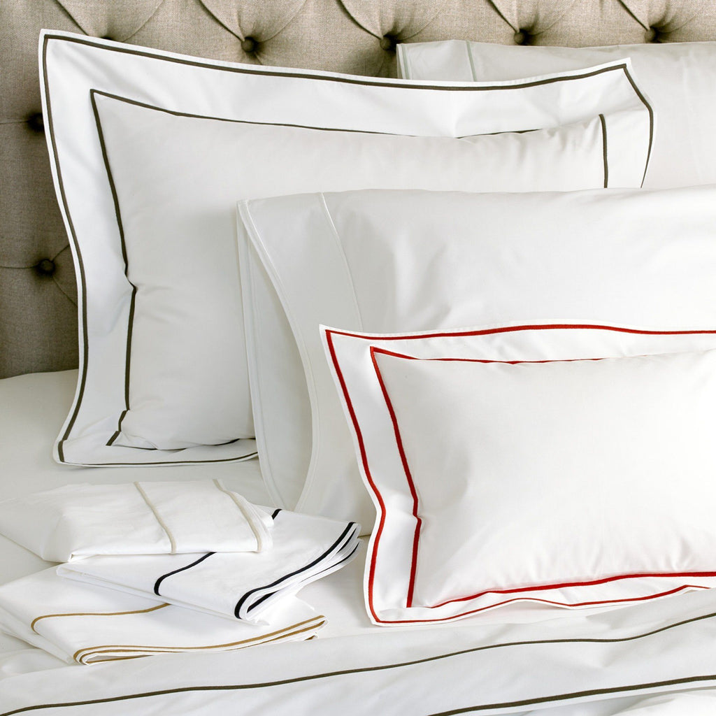 Matouk Luxury Bedding - Ansonia duvets and shams - fig linens