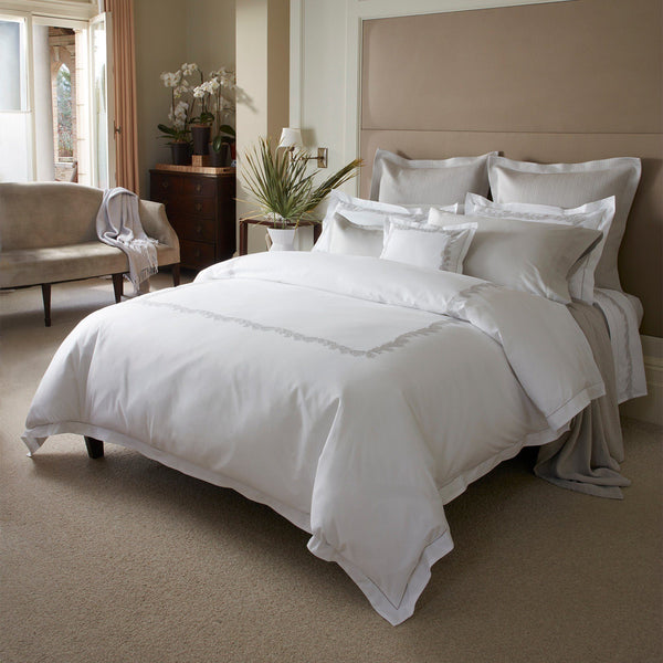 Matouk Luxury Bedding - Atoll Duvet, sheets, shams - Fig Linens