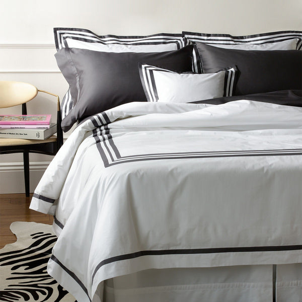 Matouk Luxury Bedding - Allegro Charcoal - Fig Linens
