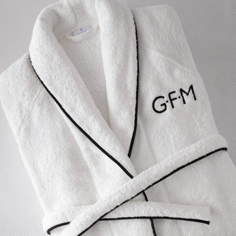 Cairo Terry Robe by Matouk - Fig Linens and Home - Luxury monogrammed robe