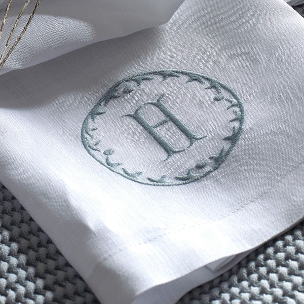 Fig Linens - Monogrammed Linen Guest Towels by Matouk