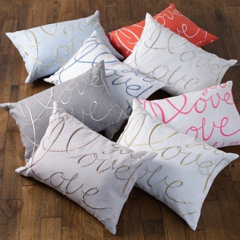 Love Decorative Pillow by Lulu DK for Matouk | Fig Linens and Home