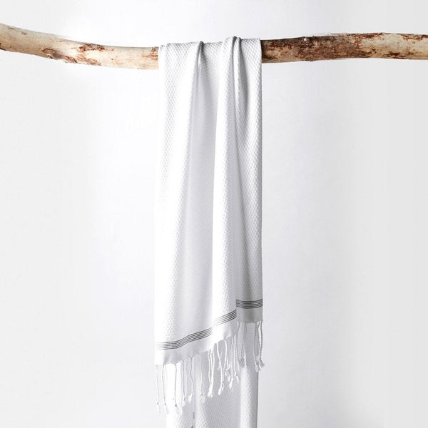 Mediterranean Alpine White Organic Bath Towels by Coyuchi - Fig Linens