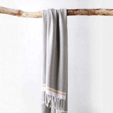 Mediterranean Deep Pewter Organic Bath Towels by Coyuchi