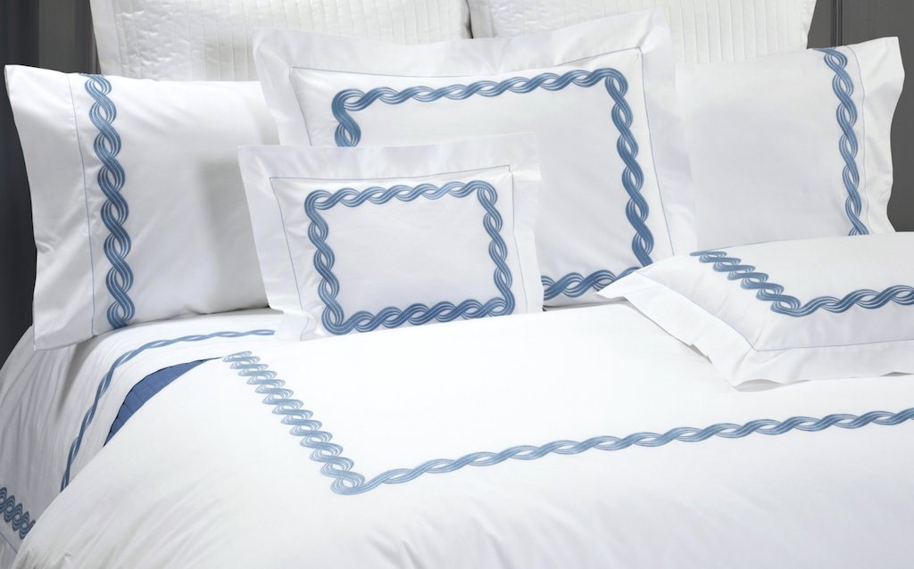 Monica Embroidered Bedding - Dea Fine Linens - Fig Linens