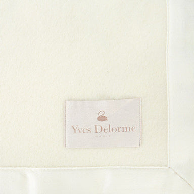 Nymphe Cashmere Blanket in Ivory by Yves Delorme | Fig Linens