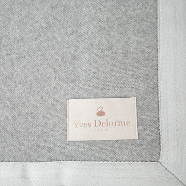 Nymphe Silver Cashmere Blanket - Yves Delorme - Close-Up View