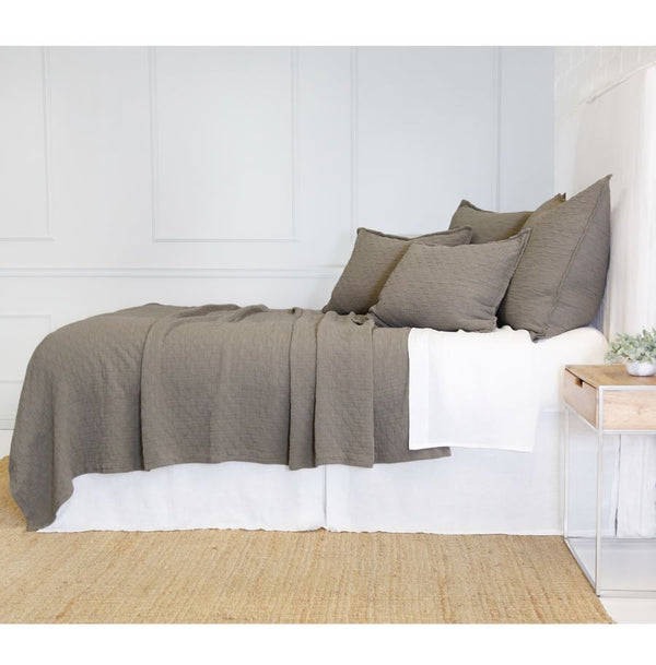 Fig Linens - Ojai Pebble Coverlet and Shams - Pom Pom at Home