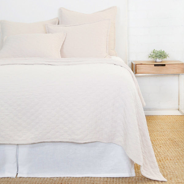 Ojai Blush Coverlet & Shams by Pom Pom at Home | Fig Linens