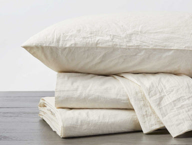 Undyed Organic Crinkled Percale Sheet Sets by Coyuchi | Fig Linens