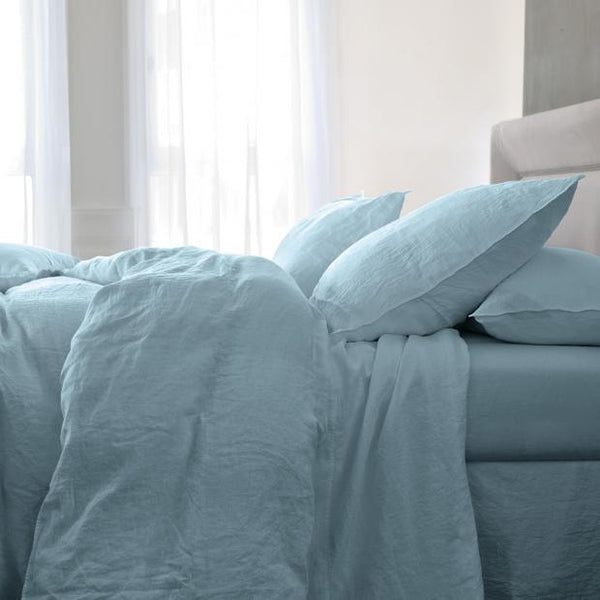 Originel Stonewashed Linen Bedding by Yves Delorme - Fig Linens