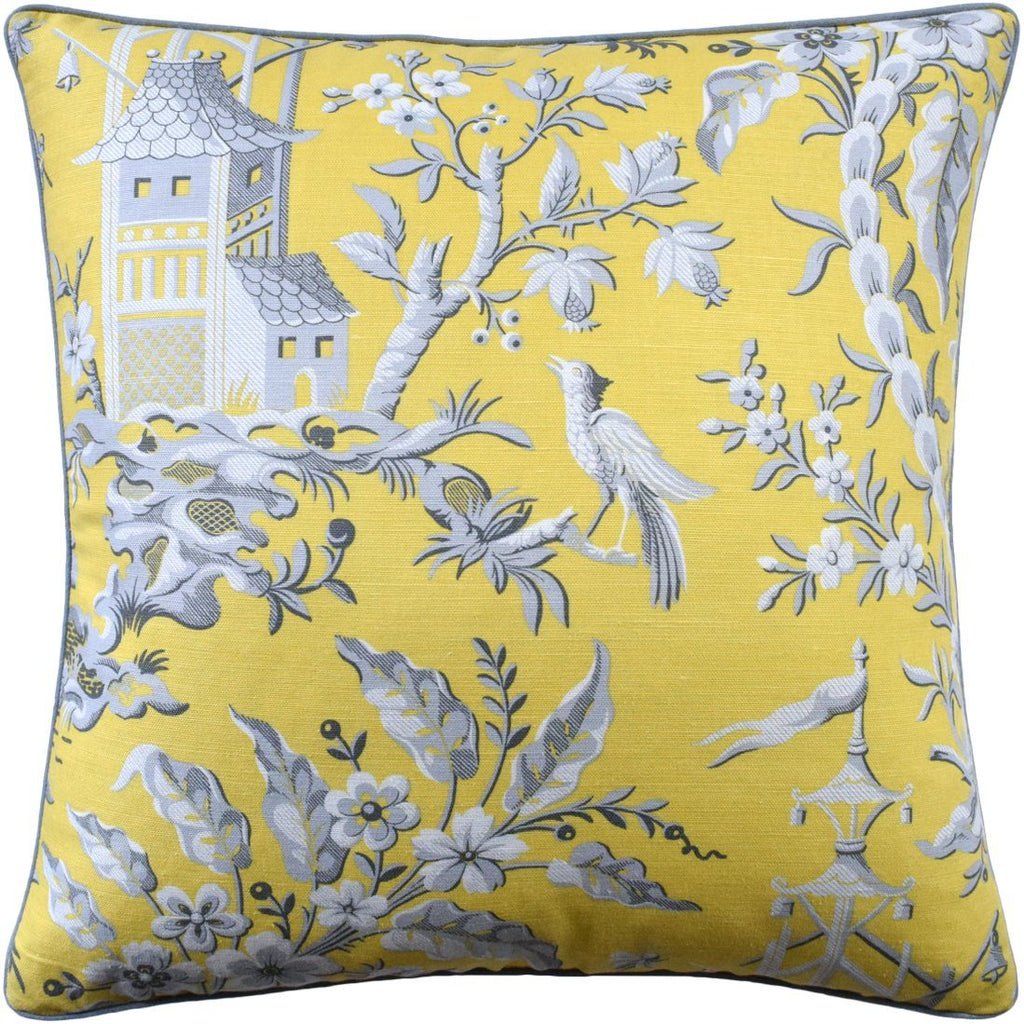 pagoda garden yellow pillow - ryan studio at fig linens